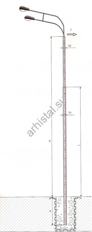 Опоры силовые прямостоечные трубчатые СП-300-9,0/11,0-(**)-ц
