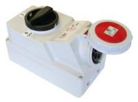 Розетка с выключателем для монтажа на поверхность IP67 75242-3