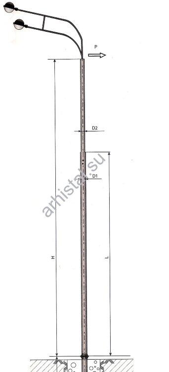Опоры силовые фланцевые трубчатые СФ-400-9,0-(**)-ц