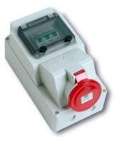 """Розетка наружной установки с автоматическим выключателем(MCB """"C"""")"""