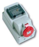 Розетка наружной установки с защитным устройством по дифференциальному току(RCD)