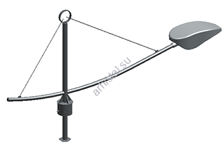 Кронштейн серии 4 Ладья однорожковый. К1-0,4-1,5-01)