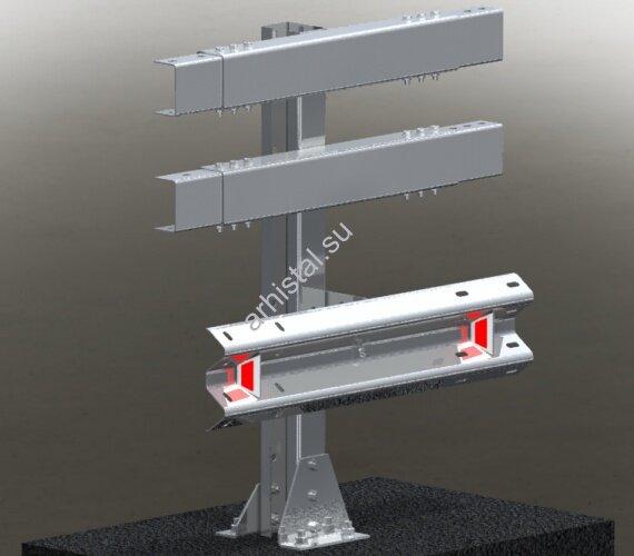 Мостовое ограждение. 11МО–1,5–3,0–450/1,0