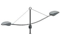 Кронштейн серии 4 Ладья двухрожковый. К2-0,4-1,5-/180-01)