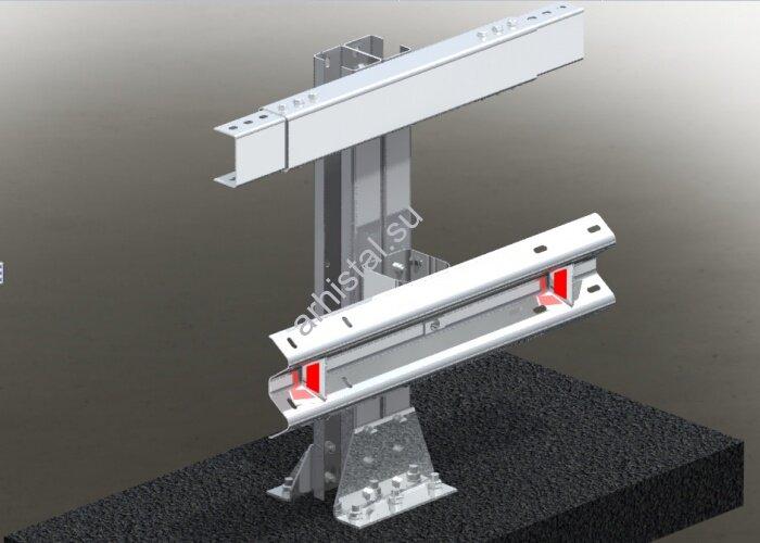 Мостовое ограждение. 11МО–1,5–2,0–500/1,0