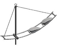 Кронштейн серии 6 Флагман двухрожковый. К2-0,5-1,5-30(15)/-Ф3)