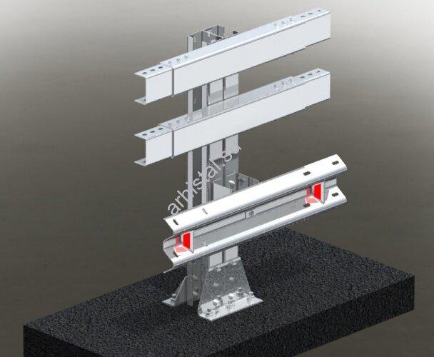 Мостовое ограждение. 11МО–1,5–3,0–500/0,9