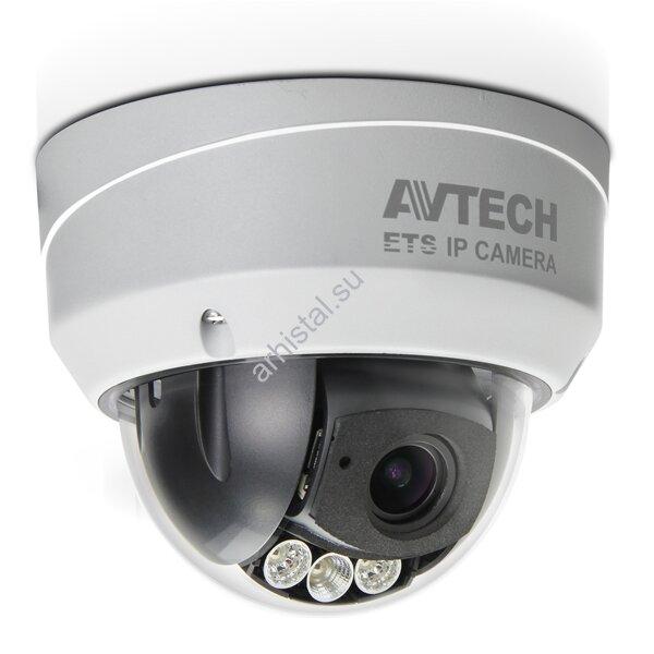 """Купольные IP-видеокамеры AVTech цветные """"день-ночь"""" с ИК-подсветкой AVM542"""