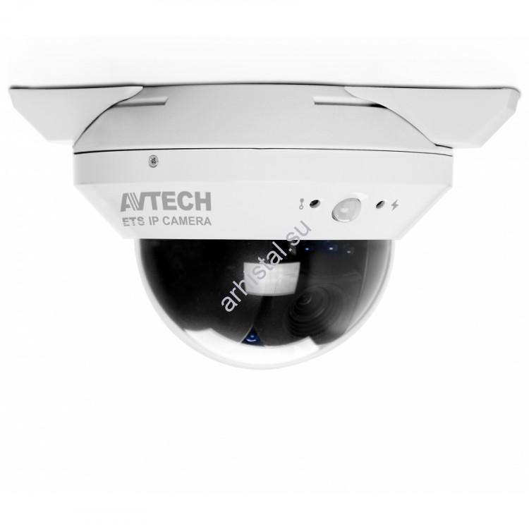 """Купольные IP-видеокамеры AVTech цветные """"день-ночь"""" с ИК-подсветкой AVN808"""