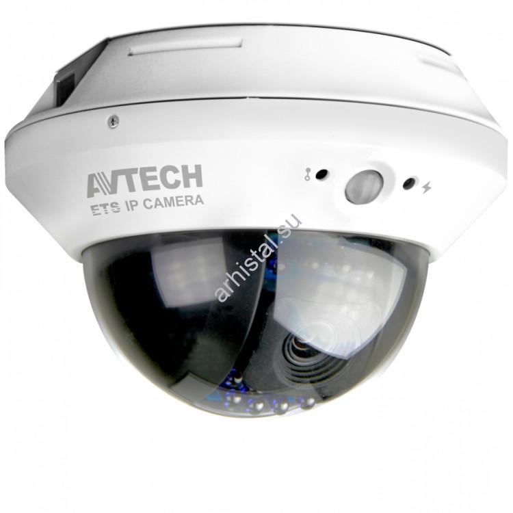 """Купольные IP-видеокамеры AVTech цветные """"день-ночь"""" с ИК-подсветкой AVM428D"""