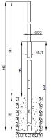 Опоры стальные безфланцевые ОСБФ 7,5-9,0