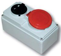 Розетка с выключателем для монтажа на поверхность IP44