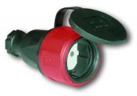 Разъем с резиновым корпусом с клапаном и фиксатором