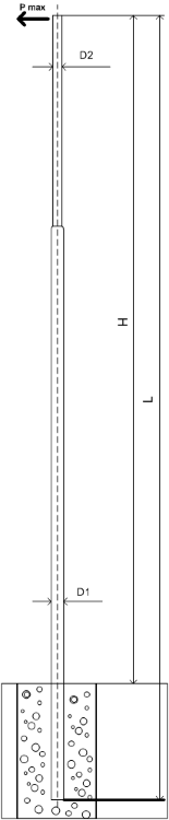 Силовая опора освещения ОС-0,3-9,0 монтаж в грунт