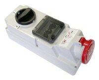 Розетка с выключателем для монтажа на поверхность с предохранителем IP44