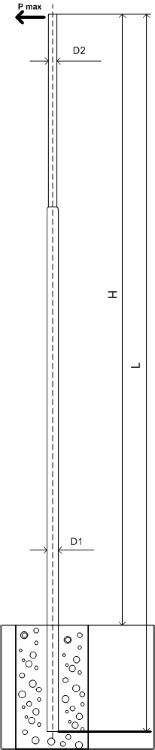 Силовая опора освещения ОС-1,5-9,0 монтаж в грунт