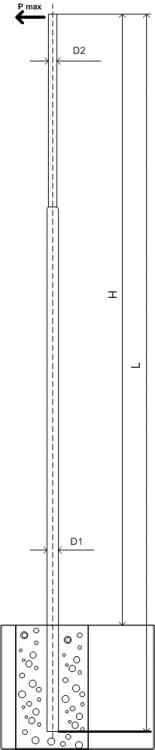 Силовая опора освещения ОС-2,1-9,0 монтаж в грунт